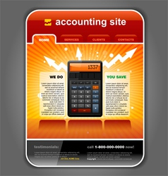 finance accounting vector image