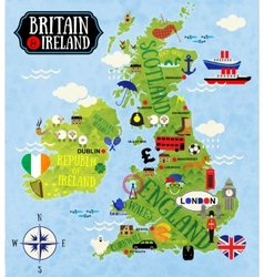 Maps of britain and ireland vector