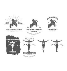 paralympic games paralympics rio vector image