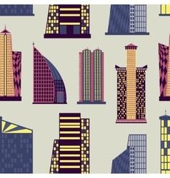 Skyscrapers set pattern vector image vector image