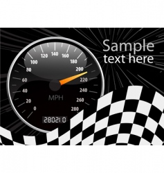 speedometer illustration vector image vector image