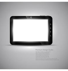 Tablet design vector image vector image