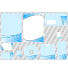 corporate design template - blue ray concept vector image