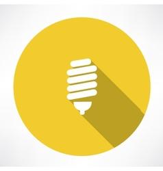 energy saving lamp icon vector image vector image
