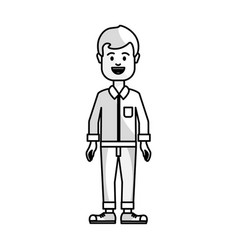 Figure people man with casual cloth avatar icon vector