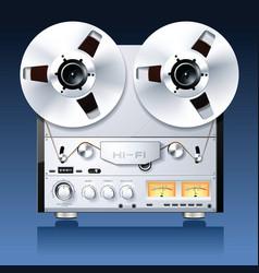 hifi analog stereo vector image vector image