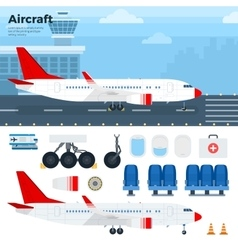 Modern aicraft standing in the airport vector image