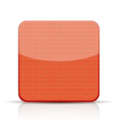 red brick app icon on white background vector image