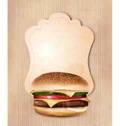 Retro fast food menu for burger vector image vector image