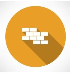 Brick wall icon vector