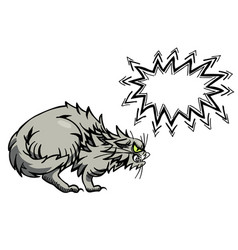 cartoon image of angry cat vector image vector image