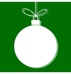 Christmas bauble white tag vector image vector image