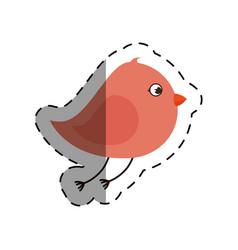 cute bird isolated icon vector image