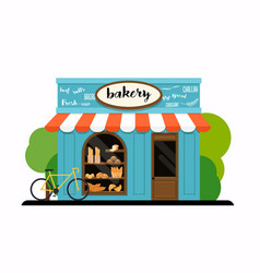 facade of a bakery shop flat design modern vector image