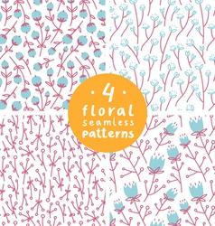 Floral patterns set 1 vector image