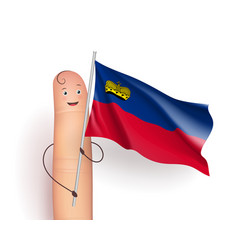 liechtenstein flag waving vector image