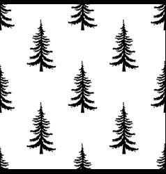 pine tree pattern simple of pine vector image vector image