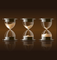 Sand falling in the hourglass vector image