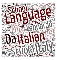 Scuola leonardo da vinci announces the new last vector
