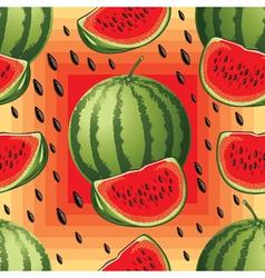 seamless pattern of ripe watermelon vector image
