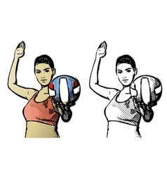Volleyball poster vector