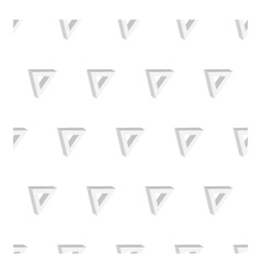 3d seamless triangle background white vector image