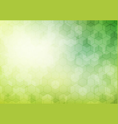 abstract geometric hexagon pattern on green vector image