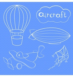 Aircrafts set vector image