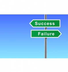 Arrows sign of success failure vector