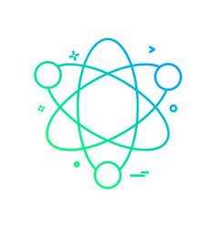 atom science icon design vector image