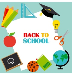 Back to School card vector image