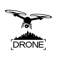 Black drone sign vector