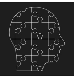 black outline human profile vector image