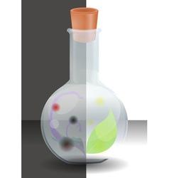 Black white flask vector