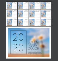 Calendar template 2020 vector