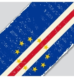 Cape Verde grunge flag vector