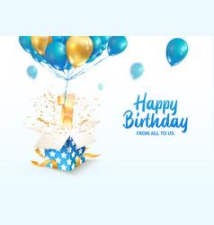 celebrating 1 st year birthday 3d vector image