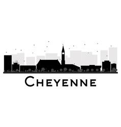 Cheyenne silhouette vector image