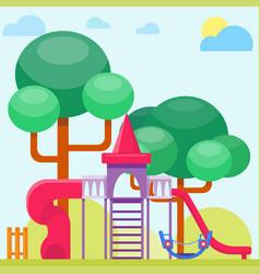 Children playground fun childhood play park vector
