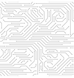 circuit board seamless high-tech technology vector image