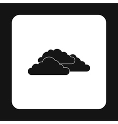 Clouds icon simple style vector image
