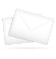 composition of a pair of envelopes graphics vector image