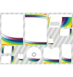 corporate rainbow design elements - templates vector image