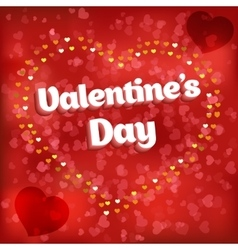 Design card Love heart vector