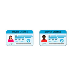 Driver license card licence with id vector
