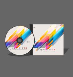 dvd case design template vector image