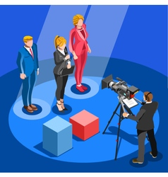 Election News Infographic Candidate Isometric vector image