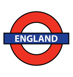 England underground sign vector