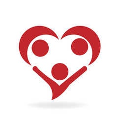 Family love and unity team icon logo vector