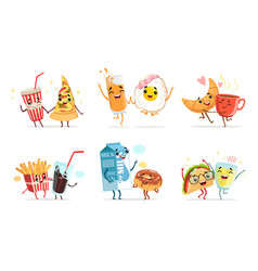 forever friends collection cute funny food vector image